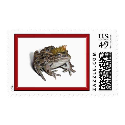 Frog Prince (Add Your Text) Postage Stamp