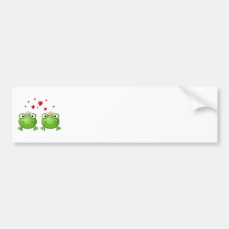 Frog Prince and Frog Princess, with hearts. Bumper Sticker