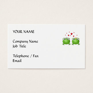 Frog Prince and Frog Princess, with hearts. Business Card