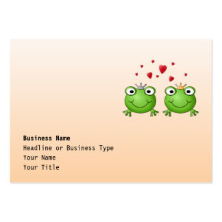 Frog Prince and Frog Princess, with hearts. Business Cards
