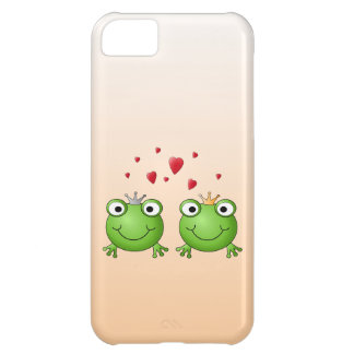 Frog Prince and Frog Princess, with hearts. iPhone 5C Case