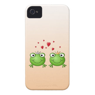 Frog Prince and Frog Princess, with hearts. Case-Mate iPhone 4 Case