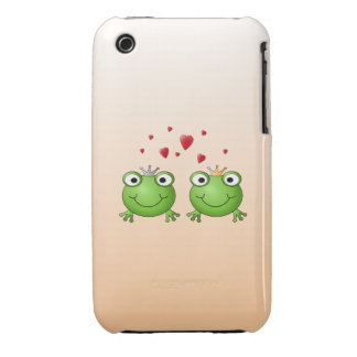 Frog Prince and Frog Princess, with hearts. Case-Mate iPhone 3 Case