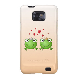 Frog Prince and Frog Princess, with hearts. Galaxy SII Cases