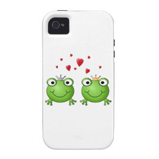 Frog Prince and Frog Princess, with hearts. iPhone 4 Cases
