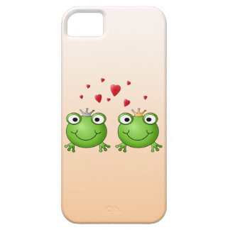 Frog Prince and Frog Princess, with hearts. iPhone 5 Case