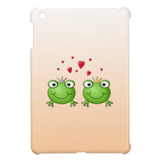 Frog Prince and Frog Princess, with hearts. iPad Mini Cover