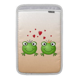 Frog Prince and Frog Princess, with hearts. MacBook Air Sleeves