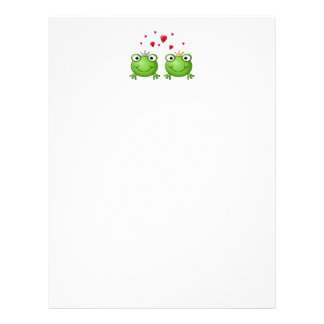 Frog Prince and Frog Princess, with hearts. Letterhead