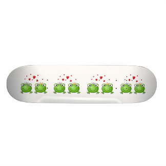Frog Prince and Frog Princess, with hearts. Skate Boards