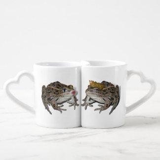 Frog Prince and Kissing Frog Coffee Mug Set