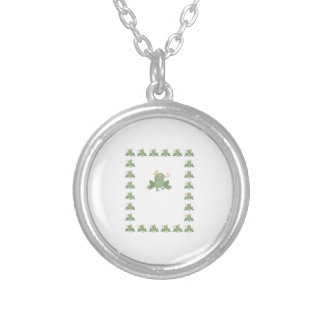 Frog Prince Baby Announcement Round Pendant Necklace