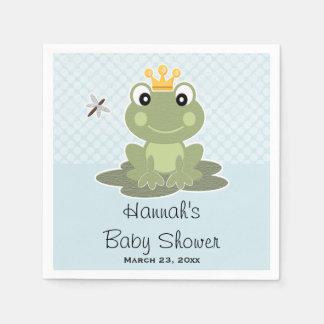 Frog Prince Baby Boy Shower Paper Napkin