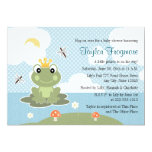 "Frog Prince Baby Shower Invitations 5"" X 7"" Invitation Card"