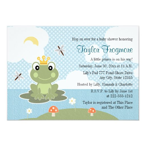 frog prince baby shower invitations zazzle