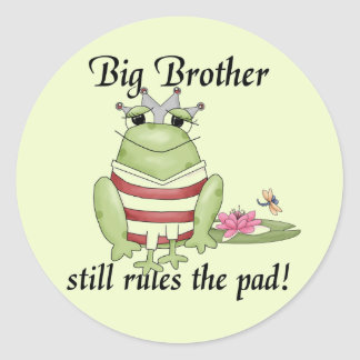 Frog Prince Big Brother T-shirts and Gifts Classic Round Sticker