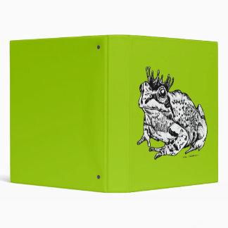 Frog Prince Vinyl Binders