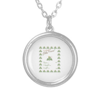 Frog Prince Birth Announcement Round Pendant Necklace