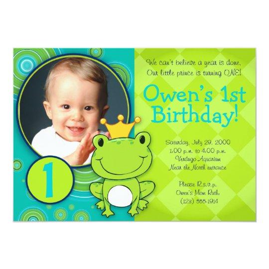 Frog Prince Birthday Card