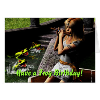 Frog Prince Birthday Wishes Card