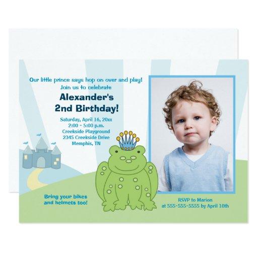 Frog Prince Boys Birthday Invitation Template