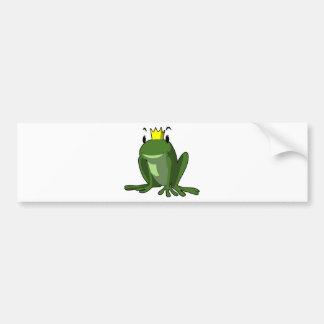 Frog Prince Car Bumper Sticker