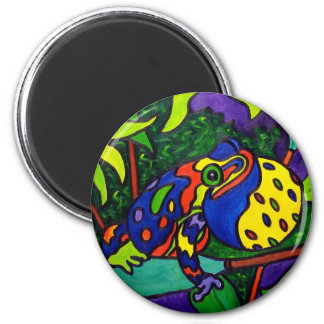 Frog Prince by Piliero 2 Inch Round Magnet