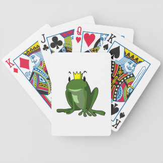 Frog prince cartoon bicycle playing cards