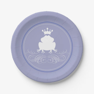 frog prince charming bridal shower paper plate