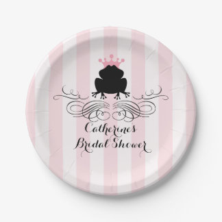 Frog Prince Charming   Bridal Shower 7 Inch Paper Plate