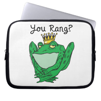 Frog Prince Charming Laptop Sleeves