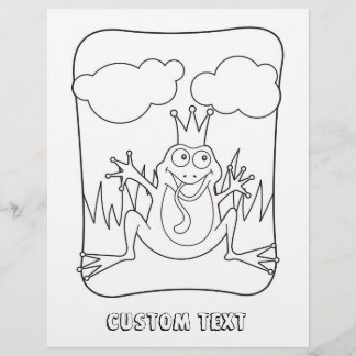 Frog Prince Coloring Book Page