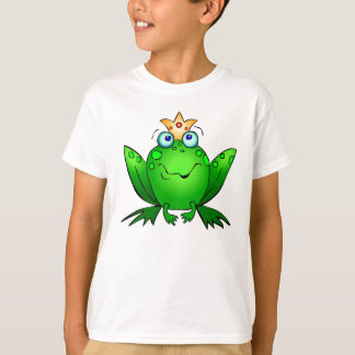 Frog Prince Cute Green Cartoon Art T-Shirt