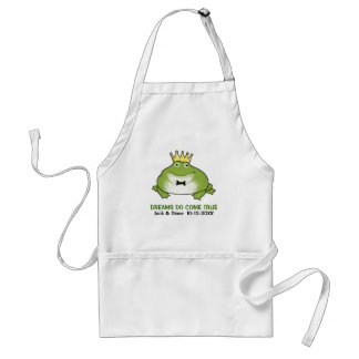 Frog Prince - Cute Toad with Customizable Text Adult Apron