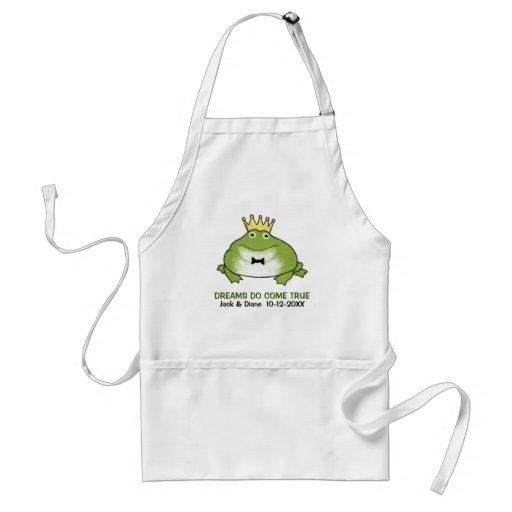 Frog Prince - Cute Toad with Customizable Text Aprons