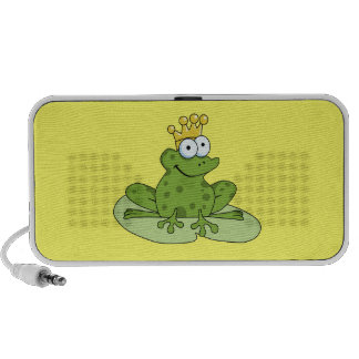Frog Prince Doodle iPod Speakers