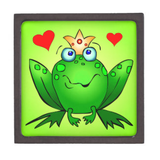 Frog Prince Fairy Tale Frog Green Gift Box