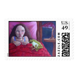 Frog Prince Fairy Tale Postage Stamp