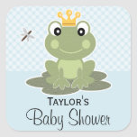 Frog Prince Favor Labels Square Sticker