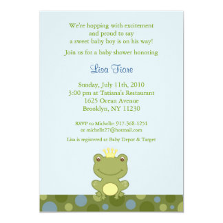 Frog Prince Froggy Baby Shower Invitations