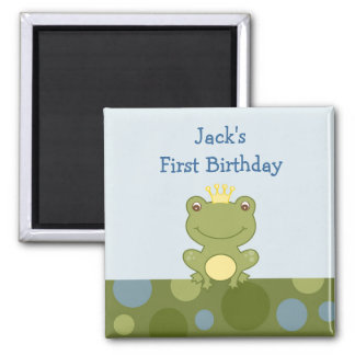 Frog Prince Froggy Birthday Favor Magnets