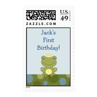 Frog Prince Froggy Personalized Postage Stamps