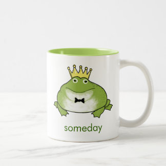 Frog Prince - Funny Toad Waits for your Kiss Two-Tone Coffee Mug