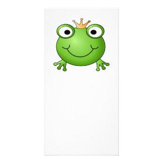 Frog Prince. Happy Frog. Card