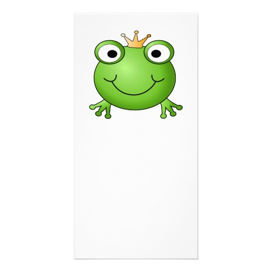 Frog Prince. Happy Frog. Card
