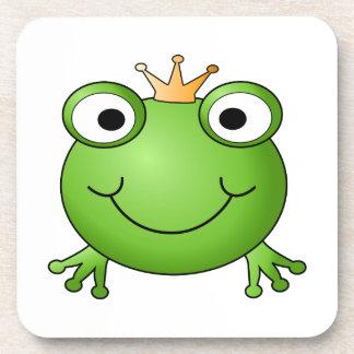 Frog Prince. Happy Frog. Drink Coaster