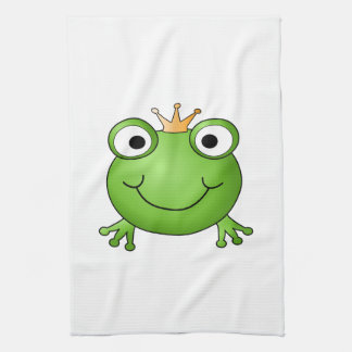 Frog Prince. Happy Frog. Towels