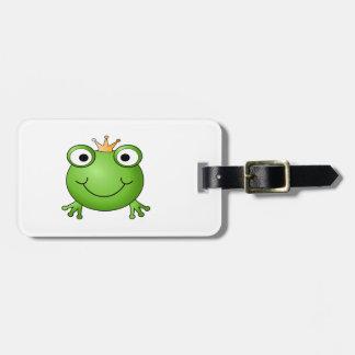 Frog Prince. Happy Frog. Luggage Tag
