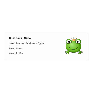 Frog Prince. Happy Frog. Mini Business Card