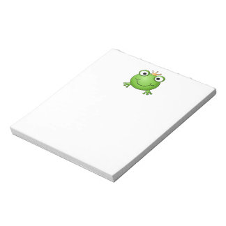 Frog Prince. Happy Frog. Note Pad